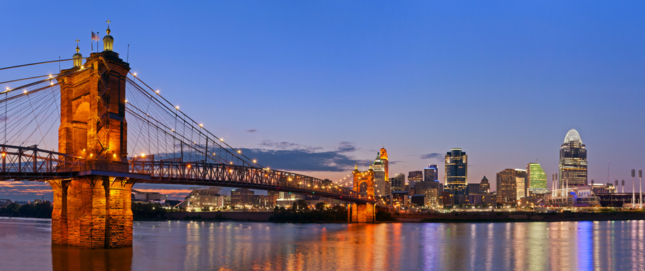 Cincinnati skyline panorama.
